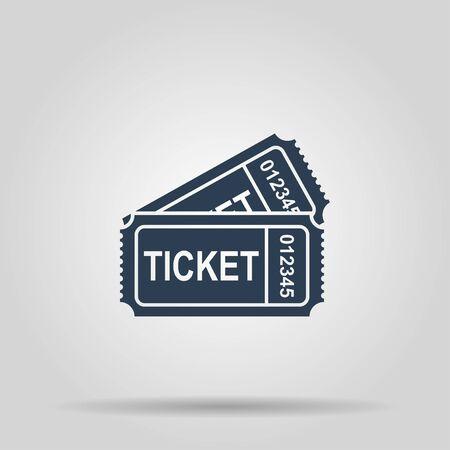 train ticket: train ticket icon. Concept illustration for design.