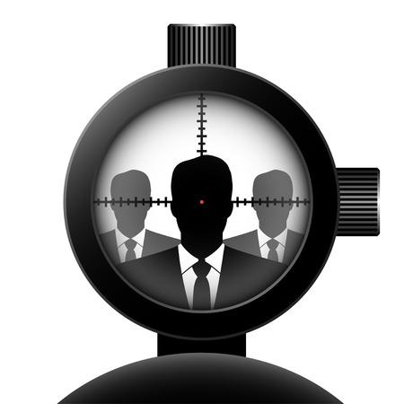 optical sight. Vector concept illustration for design.