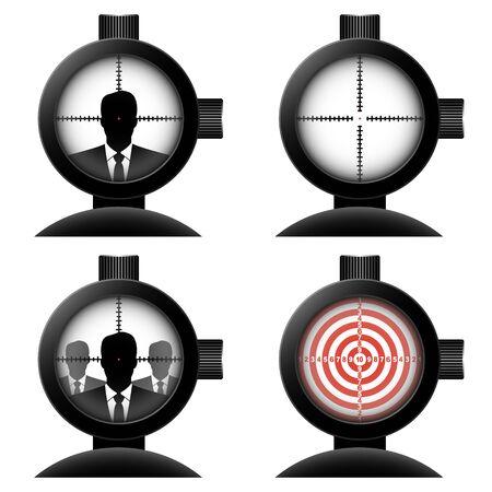 hitman: optical sight. Vector concept illustration for design.