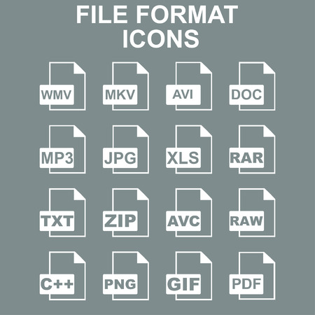 File Icons. Vector concept illustration for design Çizim