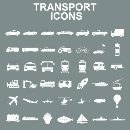 Transportation icons. Vector Çizim