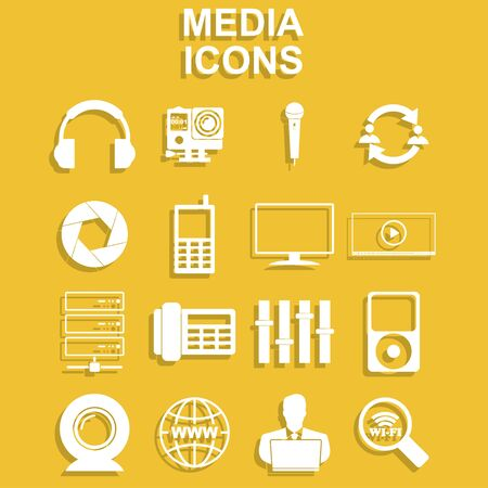 wireless connection: Social media icons Illustration