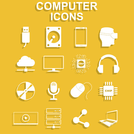 Computer icons concept illustration for design Illustration
