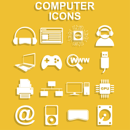 mobilephone: Computer icons. Vector concept illustration for design