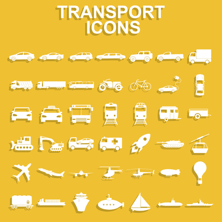 the jeep: Transportation icons. Vector Illustration