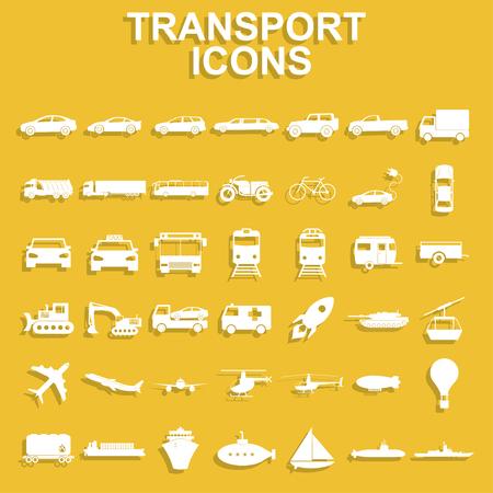 jeep: Transportation icons. Vector Illustration