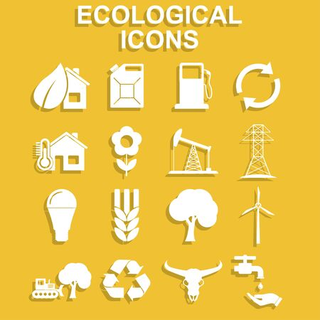 solarenergy: Ecology icons. Vector concept illustration for design.
