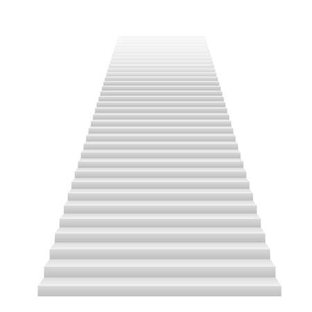 Front view of white staircase vector illustration