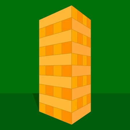 Tower block game illustration. 向量圖像