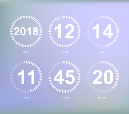 Days hours minutes seconds, icon of timer showing what time is left to beginning of certain event vector illustration isolated on grey 일러스트