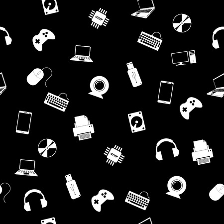 seamless pattern with electronics. Vector illustration EPS Illustration