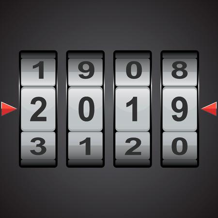 Combination, code lock number. Vector concept illustration for design. Illustration