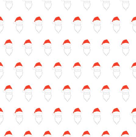 Santa Claus face pattern. Simple illustration of Santa Claus face vector pattern for web. Stock Photo