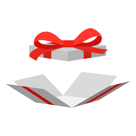 illustration of open gift box surprise. Vector