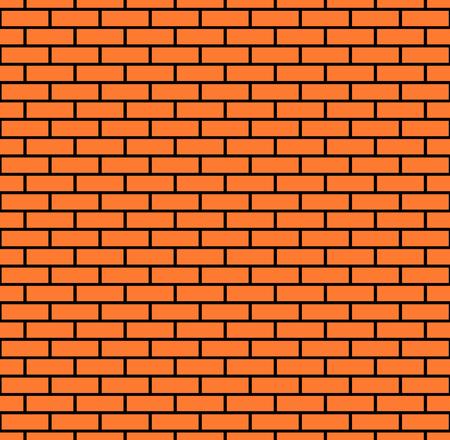 Sfondo muro di mattoni senza soluzione di continuità, illustrazione vettoriale eps10 Vettoriali