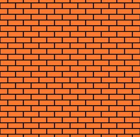 Seamless brick wall background, vector eps10 illustration Illustration