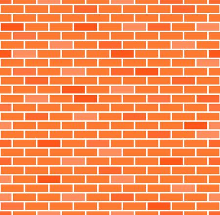 Seamless brick wall background, vector eps10 illustration Çizim