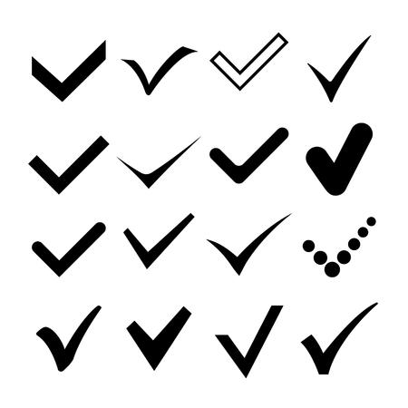 Check correct, confirm mark symbol illustration. Vector.