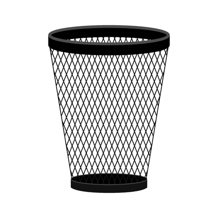 trash can vector icon in modern flat style isolated. trash can support is good for your web design