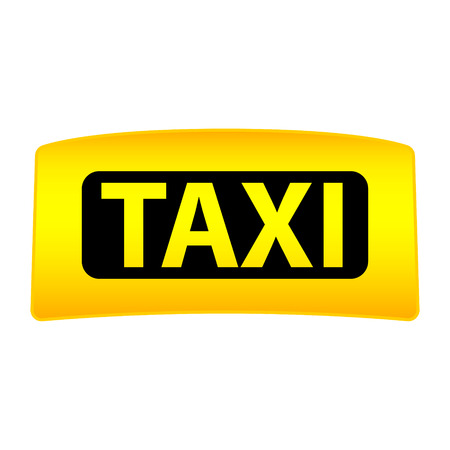 Taxi Cap Vector Clipart on a white background. Light box Иллюстрация