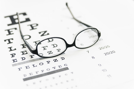目のグラフのメガネ