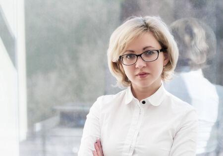 businesswoman portrait in the office Standard-Bild