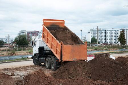 The Dumper Truck Unloading