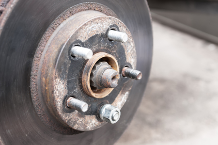 Auto Service, car disc brakes changing Standard-Bild