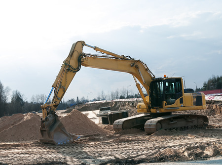 Wheel loader excavator photo