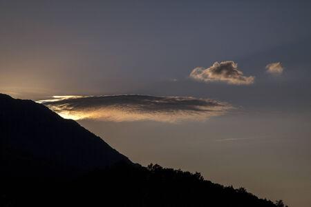the setting sun: Setting sun in Pindos, Greece