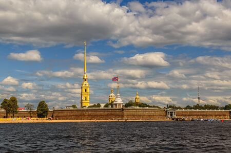 piter: Peter and Paul Fortress, St. Petersburg, Russia in summer Editorial