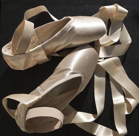 ballet slippers: zapatillas de ballet en primer plano Foto de archivo