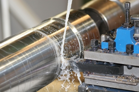 Lathe Turning Stainless Steel - High speed machine photo