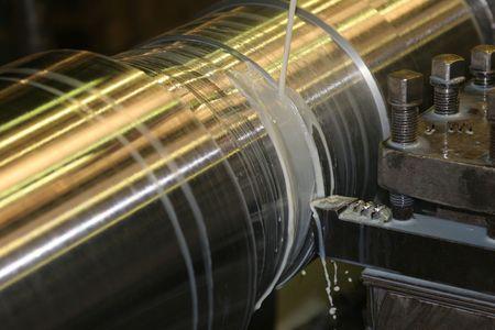 Lathe Turning Stainless Steel - Turning Stock Photo - 2290532