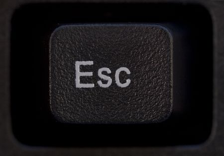 esc: Computer keyboard zoom in Esc button Stock Photo