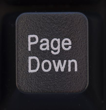 page down: Computer Keyboard Detail  Page Down   -  Black Stock Photo