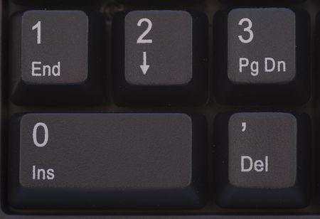 Computer Keyboard Detail  Close up button  -  Black photo