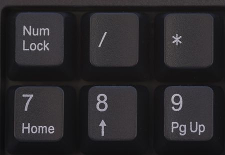 Keyboard Detail  Close up  Computer keyboard zoom  - Black Stock Photo - 2307759
