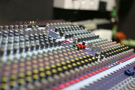 A mixing panel at a live concert