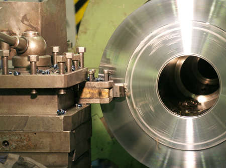 Lathe Turning Stainless Steel  Stock Photo - 2903061