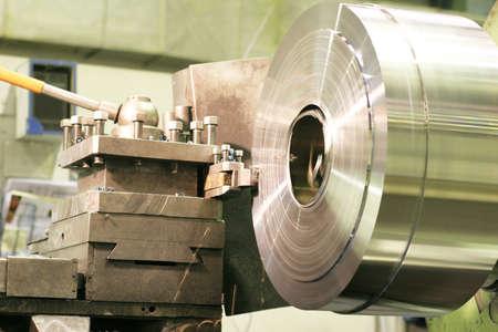 Lathe Turning Stainless Steel  photo