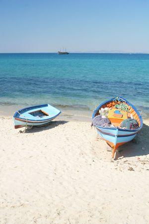 Hammamet boats Stock Photo