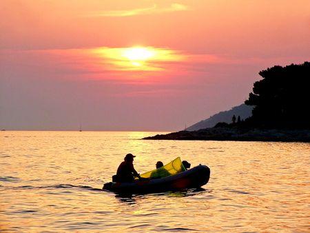 Sunset, Hvar - Croatia photo
