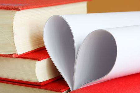 Pages of a book curved into a heart shape Stock Photo - 5112429