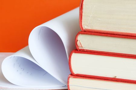 Pages of a book curved into a heart shape Stock Photo - 5112436