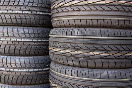 Closeup texture of a car tyre Stock Photo - 5590496