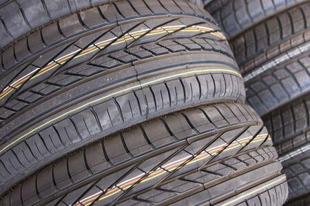 Closeup texture of a car tyre Stock Photo - 5590491