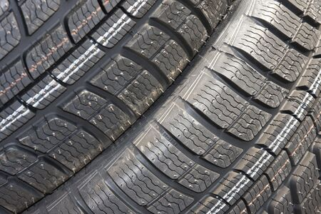 Closeup texture of a car tyre photo