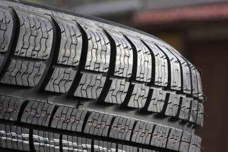 Closeup texture of a car tyre Stock Photo - 5590492
