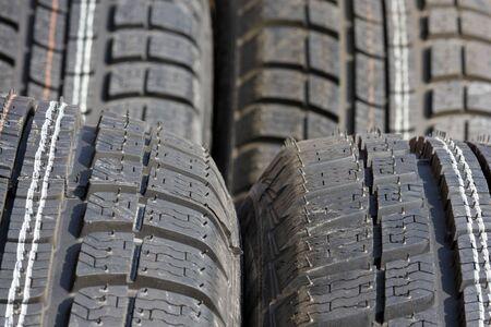 Closeup texture of a car tyre Stock Photo - 5590490